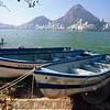 Fishing Boats on the Shore, Rodrigo de Freitas Lagoon, Rio de Janeiro, Brazil