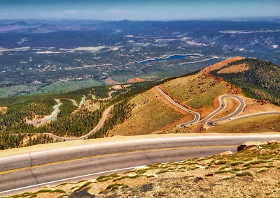 Winding Road on Pikes Peak
