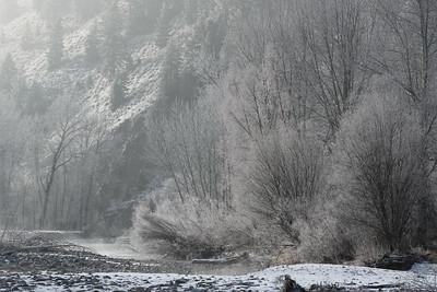 Big Wood River Hoarfrost, Idaho