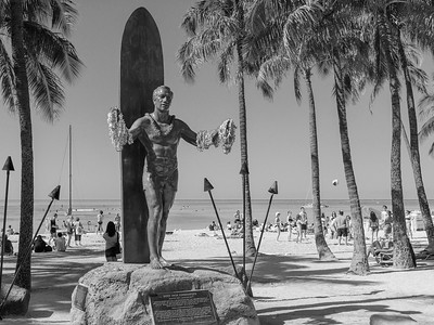 Duke Kahanamoku, Waikiki Beach, Honolulu, Hawaii