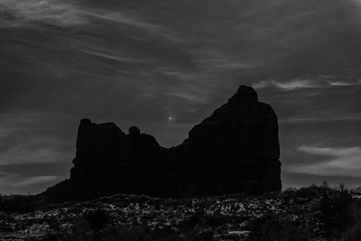 Jupiter in the Gunsight, Arches National Park