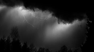 Lightning Over Sun Valley, Idaho