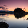 Peaceful Evening Glow at Dunsmuir Islands, BC