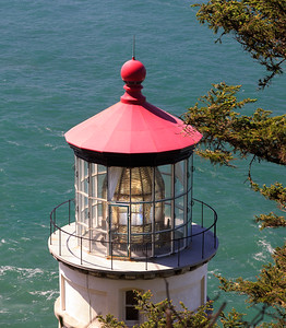 Top view of Heceta Head Lighthouse