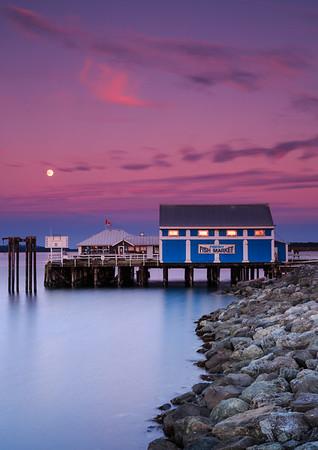 Moon over Sidney Fish Market