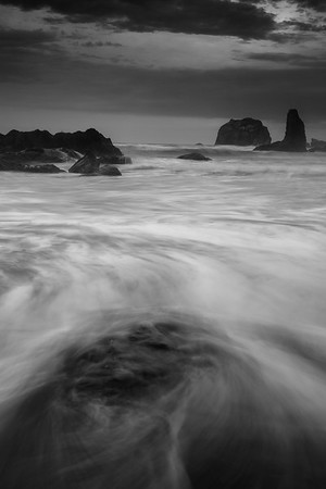 A Wash of Waves under a Gloomy Sky