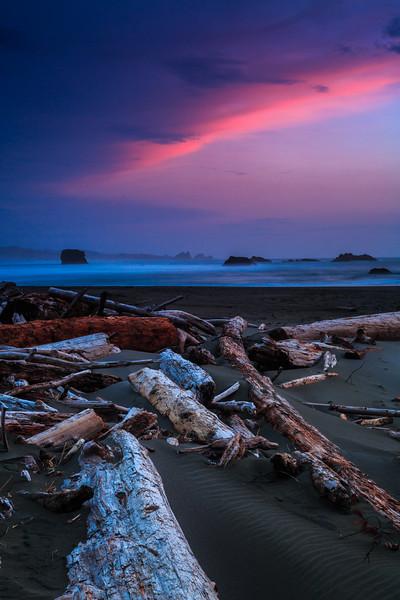 Sunset on Gold Beach - Portrait