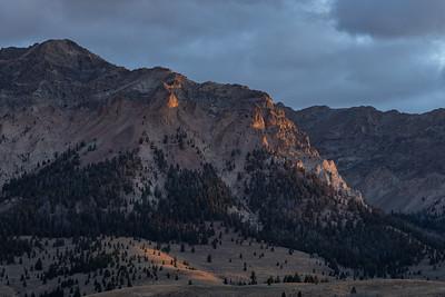 Boulder Mountains Sunrise, Fall