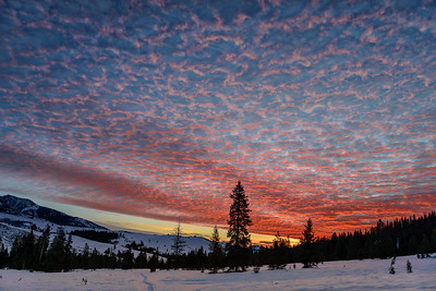 Sunrise Over The Wood River Valley of Idaho