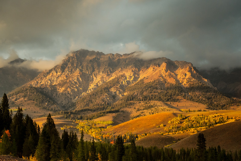 Fall Sunset on the Boulder Mountains, Idaho