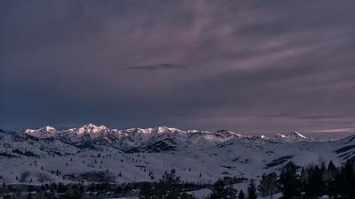 Morning Light on the Boulder Mountains, Idaho