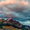 Fall Sunset on Boulder Peak, Idaho