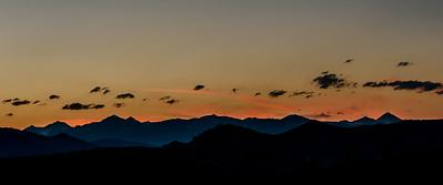 Boulder Mountain Sunset, July