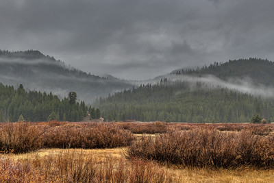 Rainy Day In the Boulder and Smoky Mountains of Idaho
