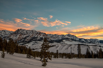 Boulder Mountains Sunrise #2 1-27-15 - 60087 Nils Ribi - print  -1