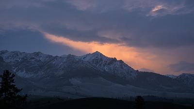 Sunset on Boulder Peak