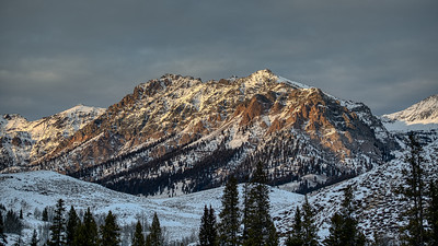 Late Sun on Boulder Mountain Front, Early Winter