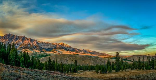 Boulder Mountain Sunset, August
