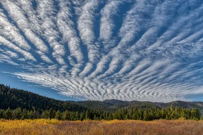 Altocumulus Clouds Over the Sun Valley, Idaho Area