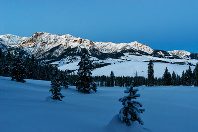 Boulder Mountains Blue Hour