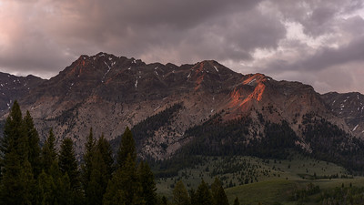 Last Light on the Boulder Mountains