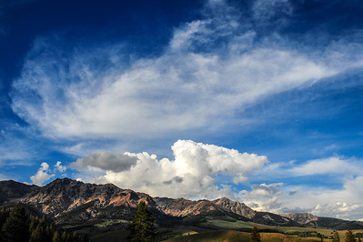 Summer Clouds Over the Boulder Mountains, Idaho