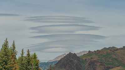 Lenticular Clouds Over the Boulder Mountains, Idaho