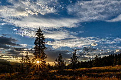 Fall Sunrise in the Boulder Mountains of Idaho