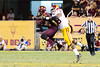 Arizona State's Alden Darby intercepts a pass thrown by USC's Tre Madden during Arizona States 62-41 victory over the Trojans. Credit: Buckeye Valley News Photo by Michael Rincon - For Editorial Purposes Only