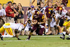 Arizona State tight end Chris Coyle runs for extra yards after catching a Taylor Kelly pass during ASU's 62-41 victory over USC on Sept. 28, 2013. Credit: Buckeye Valley News Photo by Michael Rincon - For Editorial Purposes Only