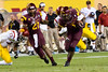 Arizona State's Marion Grice is tackled by USC's Hayes Pullard during Arizona State's 62-41 victory over the Trojans on Sept. 28, 2013. Credit: Buckeye Valley News Photo by Michael Rincon - For Editorial Purposes Only