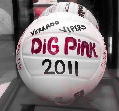 Volleyball Dig Pink Verrado vs Agua Fria 10/6/2011