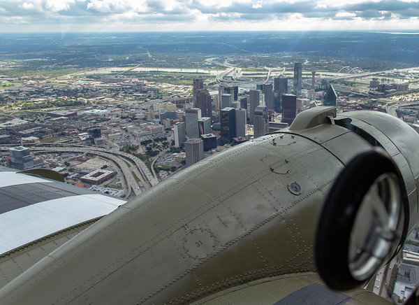 """CAF C-47 """"That's All Brother"""" over Dallas, Texas.  25 Oct 2018."""