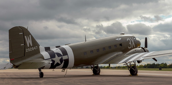 """CAF C-47 """"That's All Brother"""" at Dallas Executive Airport.  25 Oct 2018"""