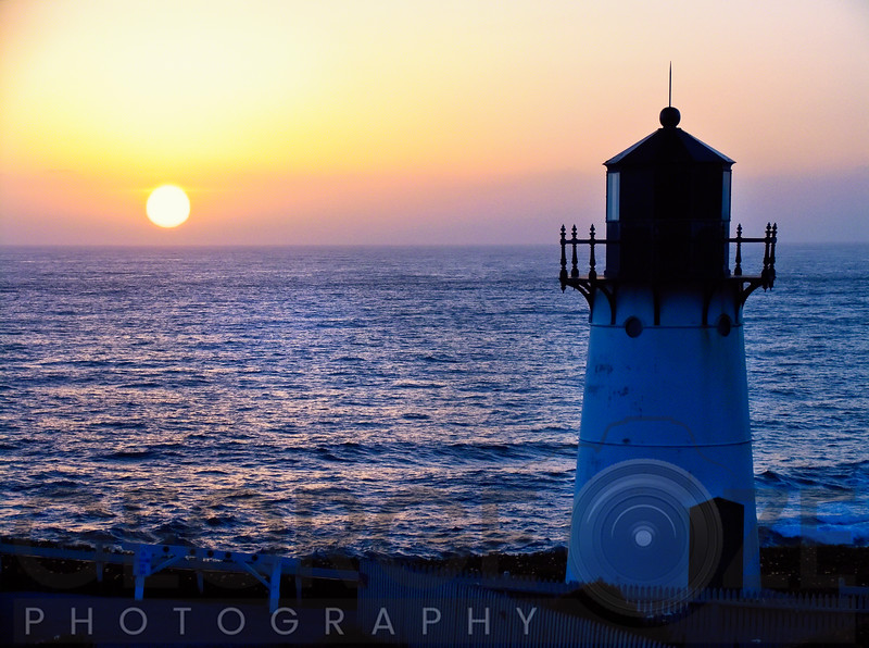 Sunset at the Montara Point Lightjouse, San Mateo County, California