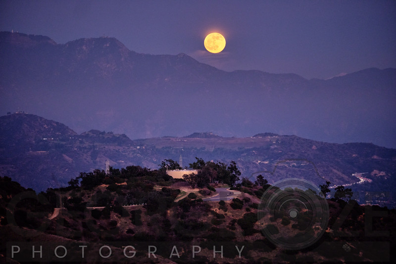 Moonrise Over Griffith Park, Los Angeles, California