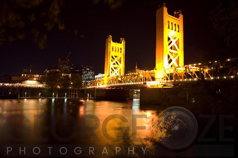 The Tower Bridge of Sacramento At Night