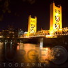 The Tower Bridge of Sacramento At Night
