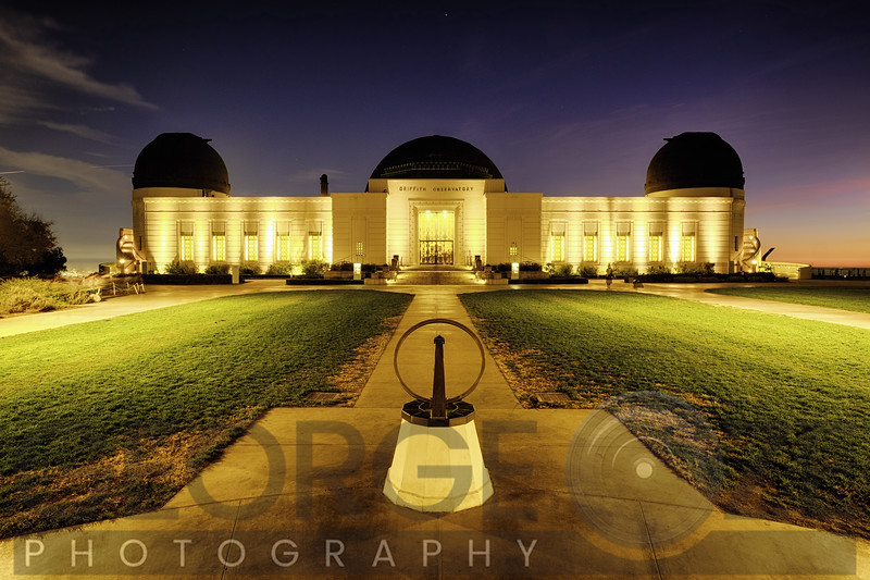 Griffith Obsewrvatory Lit Up At Night, Los Angeles, California