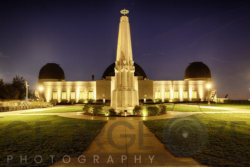 Griffith Obsewrvatory  At Night, Los Angeles, California