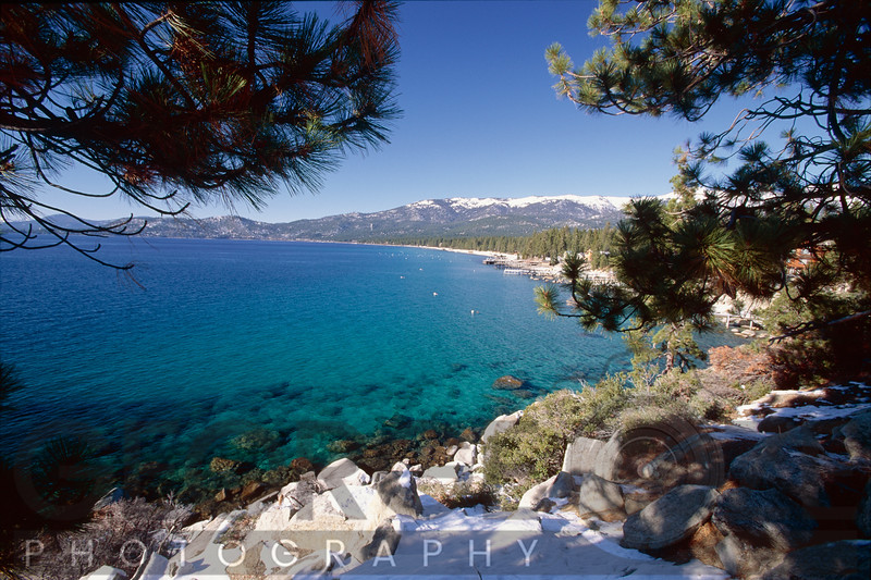 High Angle View of Crystal Bay, Lake Tahoe, Nevada Side