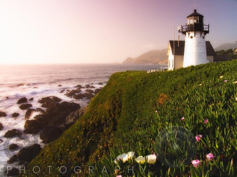 Sunset at the Montara Point Lighthouse California