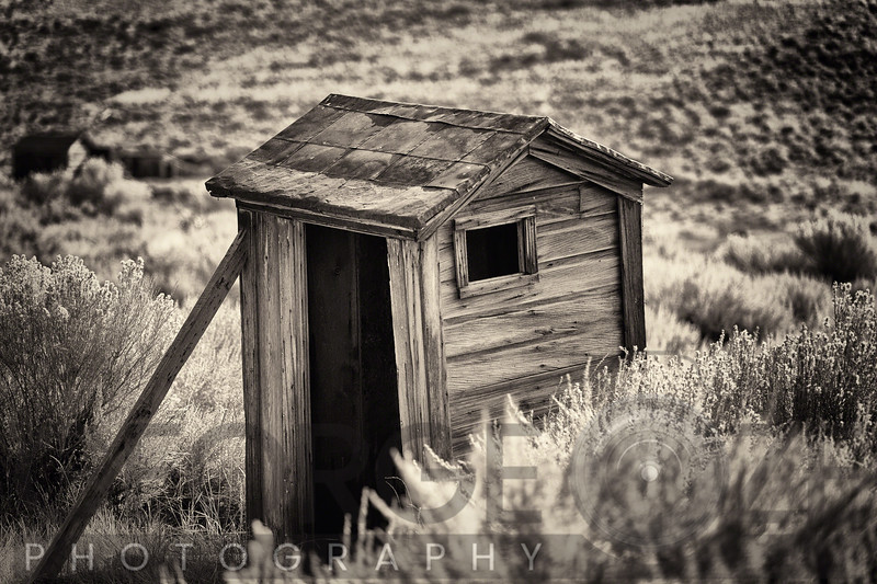 Old Outhouse in the Field, Bodie State Park, California
