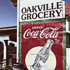 Old  Coca Cola  Advertisement  Paint on a Store Wall, Oakville Grocery, Napa Valley, California