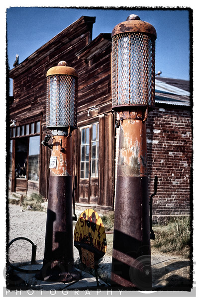 Old Gas Pumps in Bodie, Bodie State Historic Site, California
