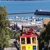 Classic Cable Car Climbing a Hill, San Francisco, California