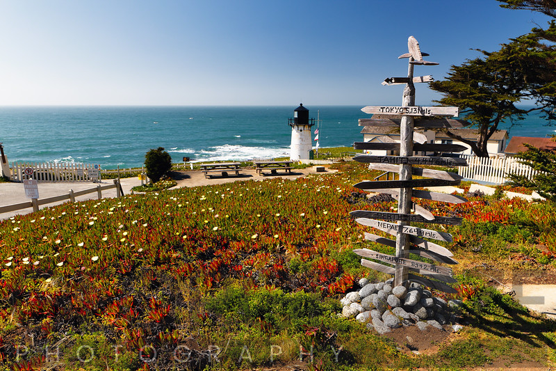Lighthouse  at Montara Point, Pacific Coast, California