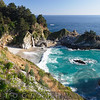 High Angle View of McWay Creek Falls in Julia Pfeiffer Burns State Park, California