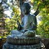 Sitting Bronze Buddha Statue, Japanese Tea Garden, San Francisco