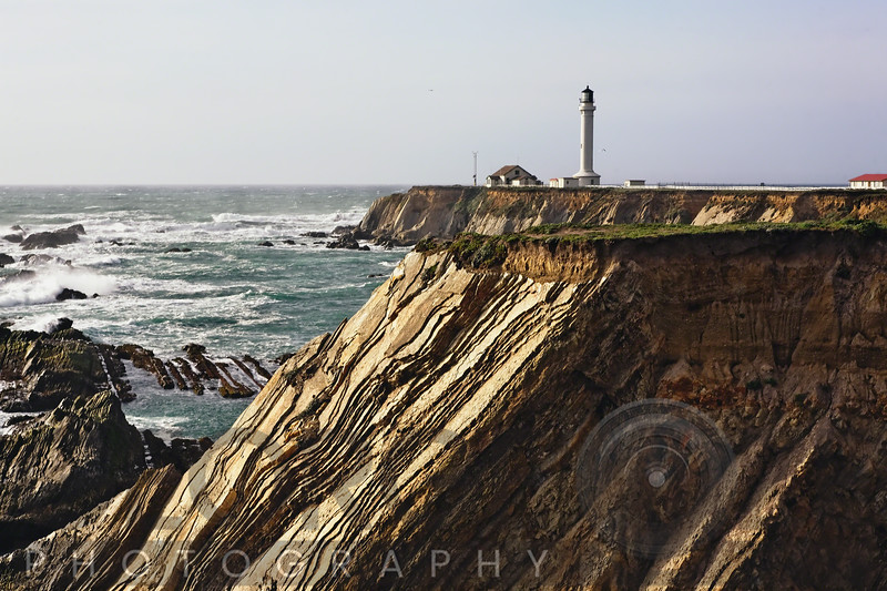 Lighthouse on the Cliffs, Point arena, California